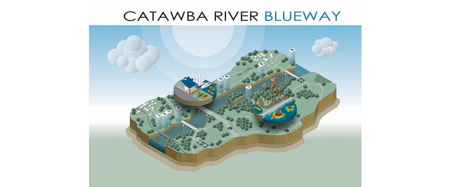 Catawba River Isometric Map