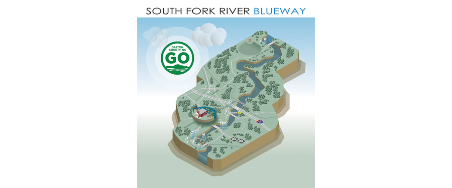 South Fork River Isometric Map